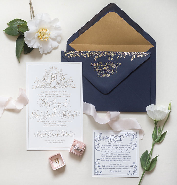Regal-Navy-and-Gold-Foil-Calligraphy-Wedding-Invitations-Kara-Anne-Paper-OSBP-2.jpg