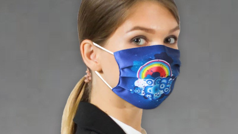 Custom Printed Fabric Face Masks ($4 per unit-Minimum order of 20)