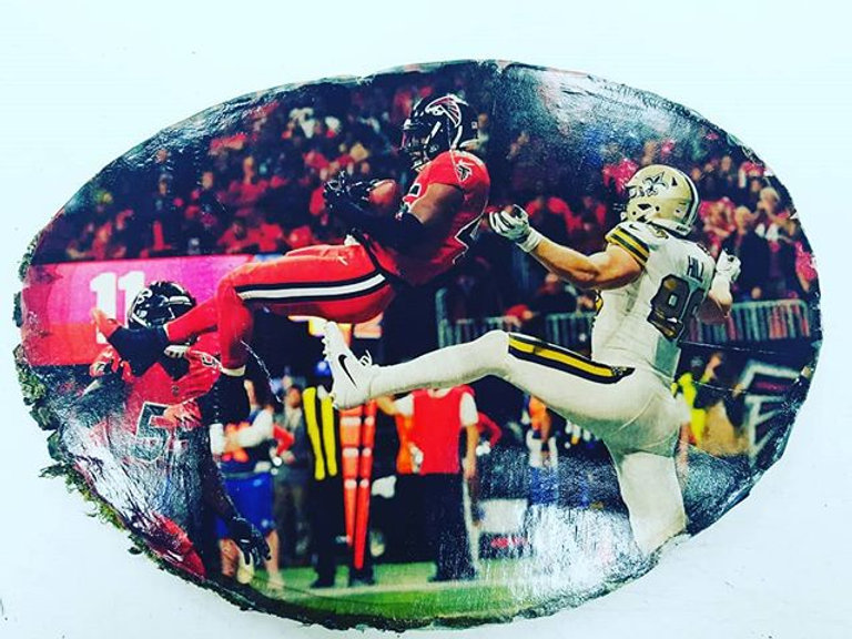 Order that perfect gift for your husband's #mancave. _Custom photos on wood slices. These make great