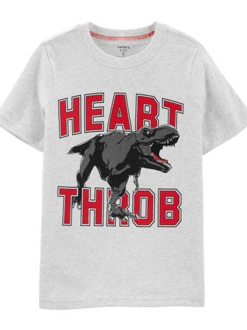 Carters, Heart Throb Dinosaur Jersey Tee