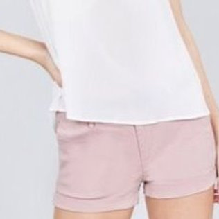 Twill short pants with belt