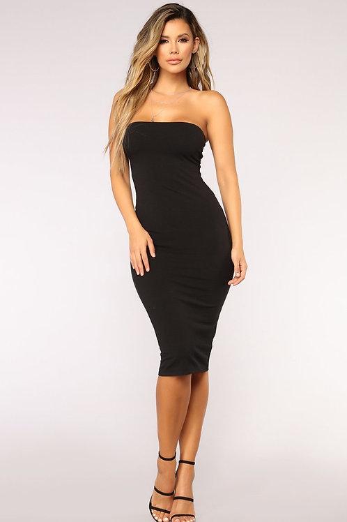 FASHION NOVA - Rhianna Tube Dress – Black
