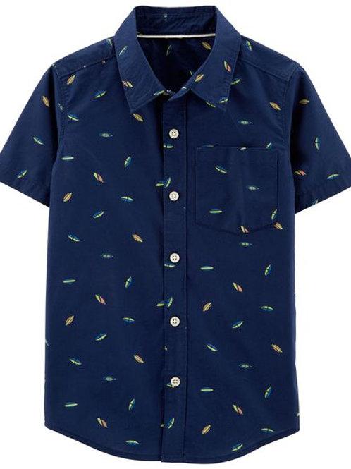 Carters, Shooting Stars Poplin Button-Front Shirt