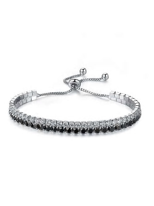 Two Tone Rhinestone Bracelet 1pc