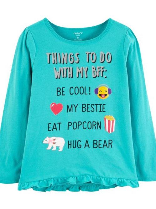 Carter's, Glitter Things To Do With BFF Ruffle Tee