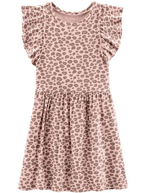 Carter's, Leopard Ruffle Dress