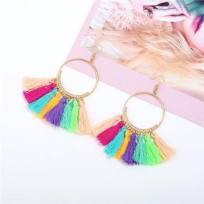 high-fashion-cotton-threads-tassel-big-hoop-statement-earrings-multicolor