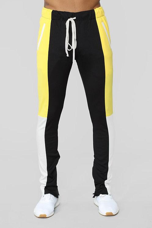 FASHIONNOVA - Cautious Track Pants - Black/combo