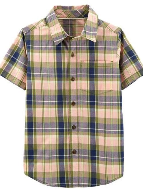 Carters, Plaid Poplin Button-Front Shirt