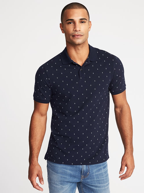 Old Navy, Printed Built-In Flex Moisture-Wicking Pro Polo for Men