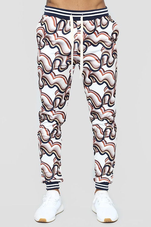 FASHIONNOVA - All About The Waves Joggers – Multi