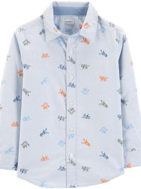 Carters, Dinosaur Oxford Button-Front Shirt