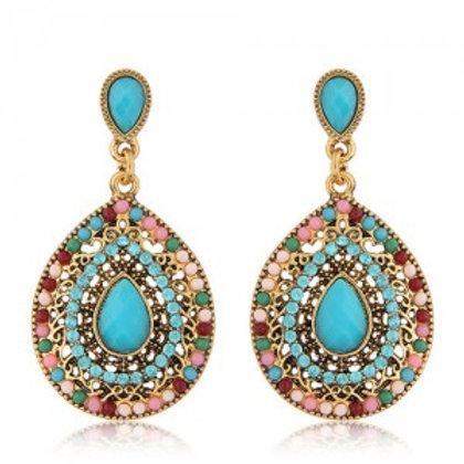 rhinestone-and-assorted-gems-embellished-vintage-waterdrop-design-fashion-earrin