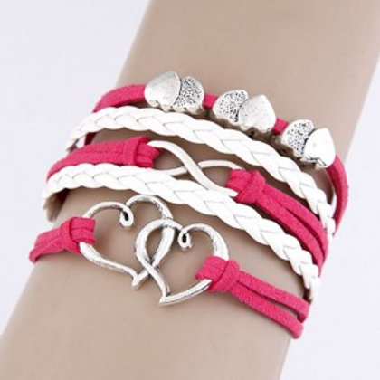 twin-hearts-design-white-and-pink-multi-layer-weaving-bracelet
