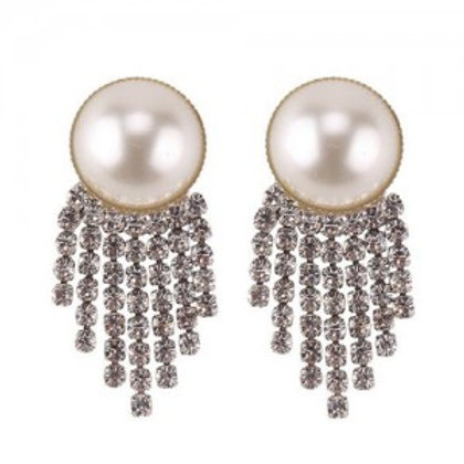 shining-tassel-pearl-fashion-women-statement-earrings-silver