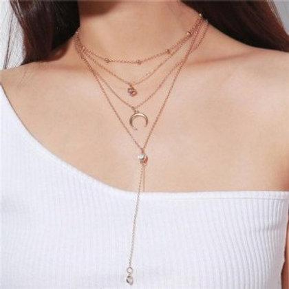 arch-and-rhinestone-pendants-multi-layer-fashion-statement-necklace-golden