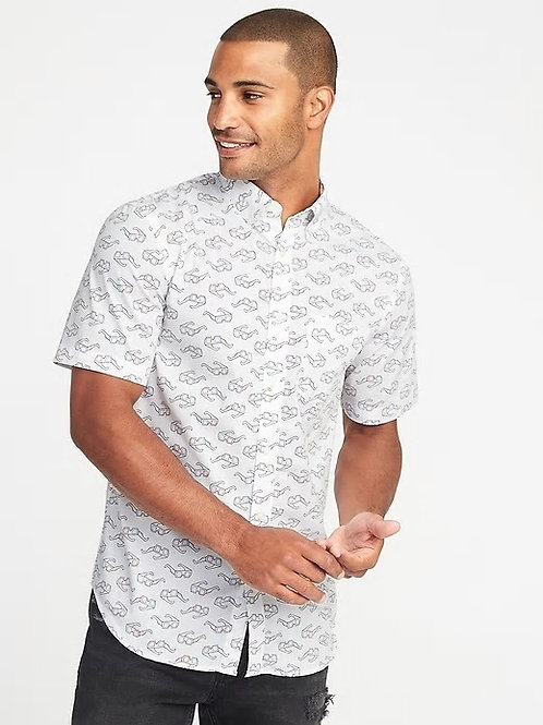 Old Navy, Slim-Fit Built-In Flex Everyday Shirt for Men