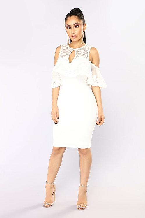 FASHION NOVA - Telling Your Secret Midi Dress – White PRODUCT DETAILS