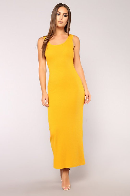 FASHION NOVA - Mulberry Street Maxi Dress – Mustard