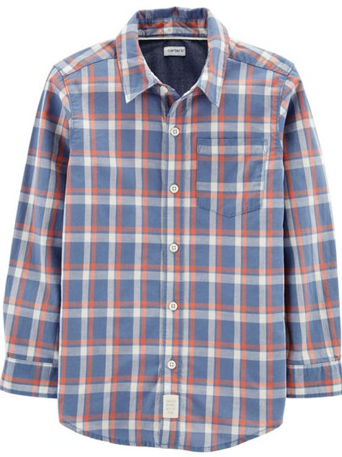 Carters, Plaid Woven Button-Front Shirt