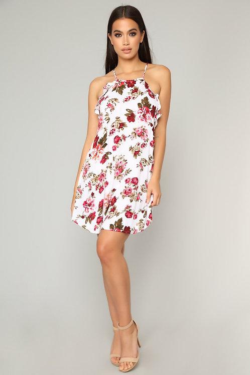 FASHION NOVA - Francesca Floral Mini Dress – Ivory