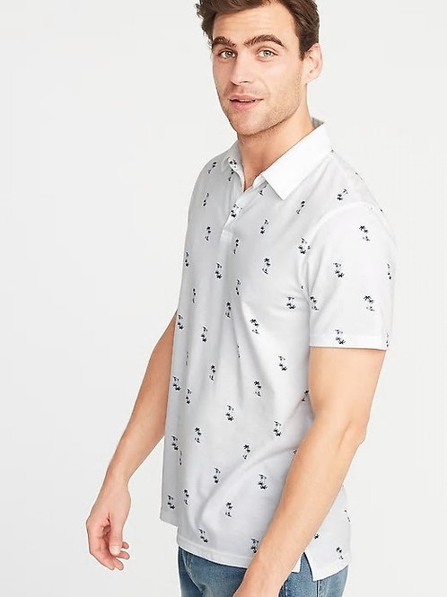 Old Navy - Soft-Washed Printed Jersey Polo for Men