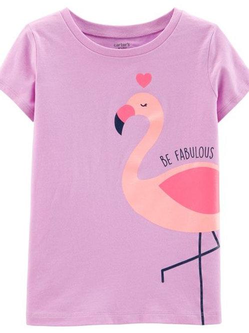 Carters - Glitter Fabulous Flamingo Jersey Tee