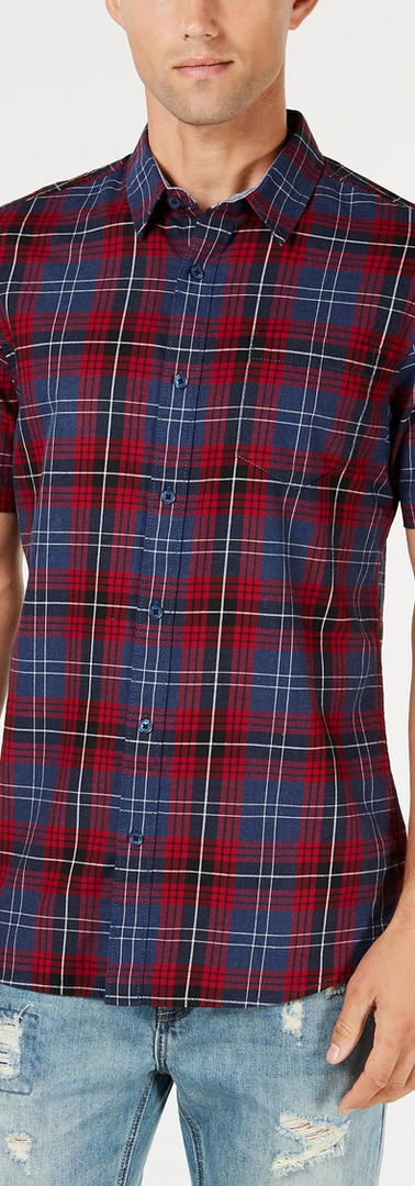 American Rag Mens Plaid Shirt1.jpg