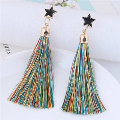 threads-tassel-golden-rimmed-star-high-fashion-stud-earrings-multicolor