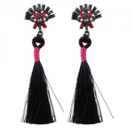rhinestone-shining-flower-with-cotton-threads-tassel-design-high-fashion-stud-ea