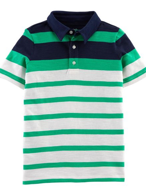 Carter's - Striped Slub Jersey Polo