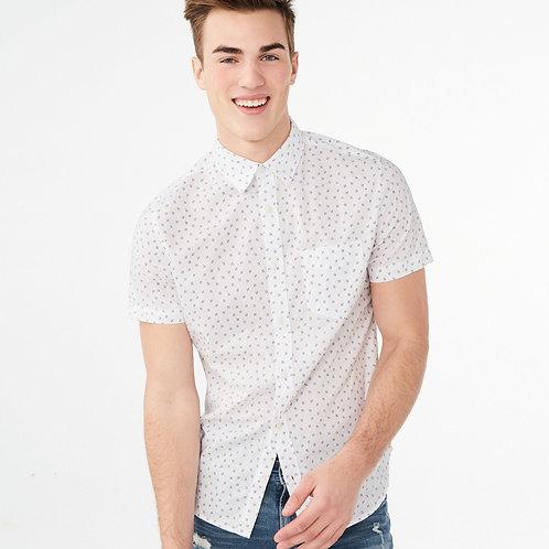 AEROPOSTALE, Geo Block Woven Shirt