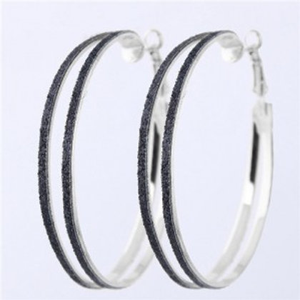 black-dull-polish-surface-giant-hoop-high-fashion-women-earrings-earrings-silver