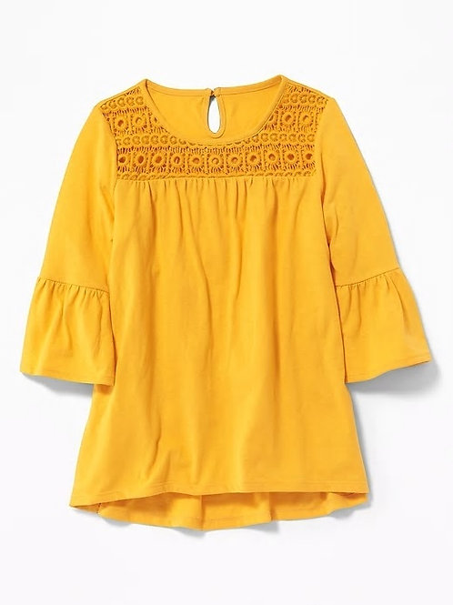 Old Navy, Lace-Yoke A-Line Top for Girls