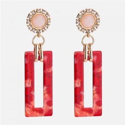 sunflower-with-bold-acrylic-oblong-design-women-statement-earrings-red