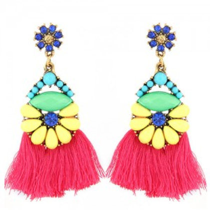 resin-beads-combined-flower-with-cotton-threads-tassel-design-summer-fashion-sta