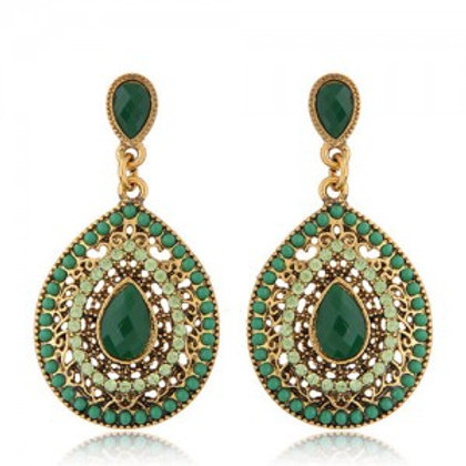 rhinestone-and-assorted-gems-embellished-vintage-waterdrop-design-fashion-earrin