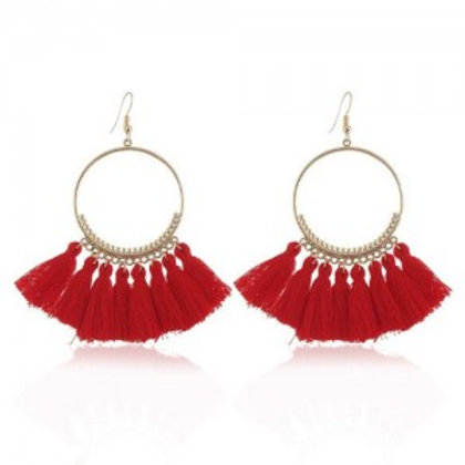 high-fashion-cotton-threads-tassel-big-hoop-statement-earrings-red