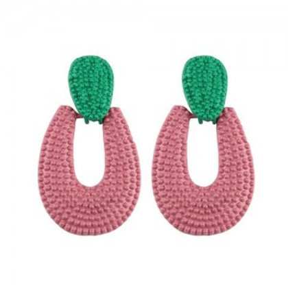 studs-hoop-high-fashion-chunky-style-women-statement-earrings-pink