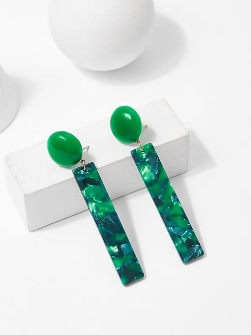 Textured Bar Drop Earrings 1pair