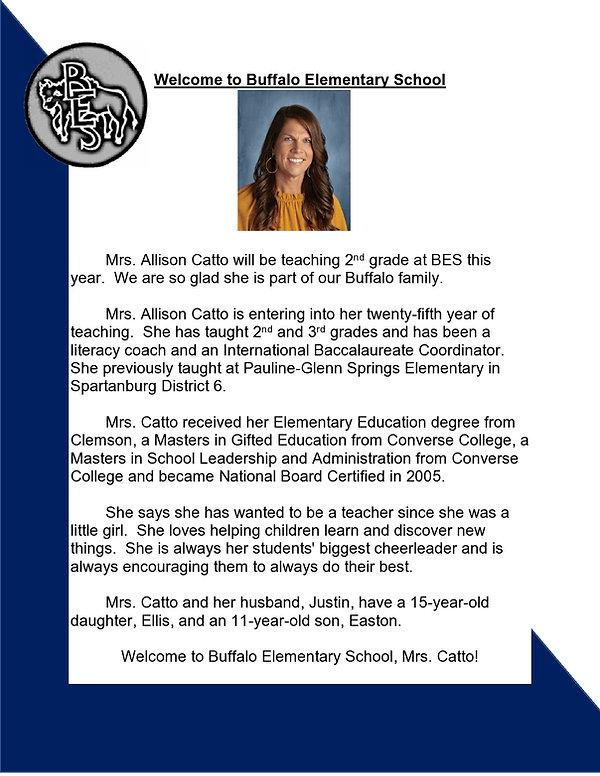 Buffalo Elementary 2nd grade teacher Allison Catto