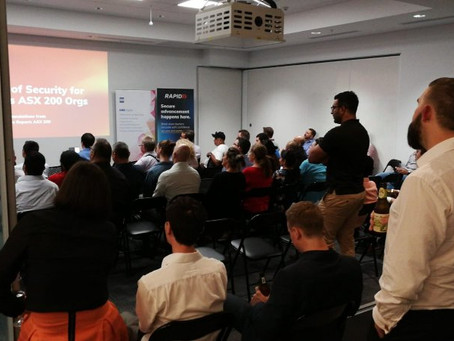 Exposing Dirty Habits: Perth's Cyber Riskers Meetup, 10 April 2019