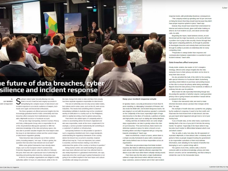 Cyber Risk Meetup Double Whammy Featured AGAIN on Aust Cyber Sec Magazine (Sydney & Singapore)