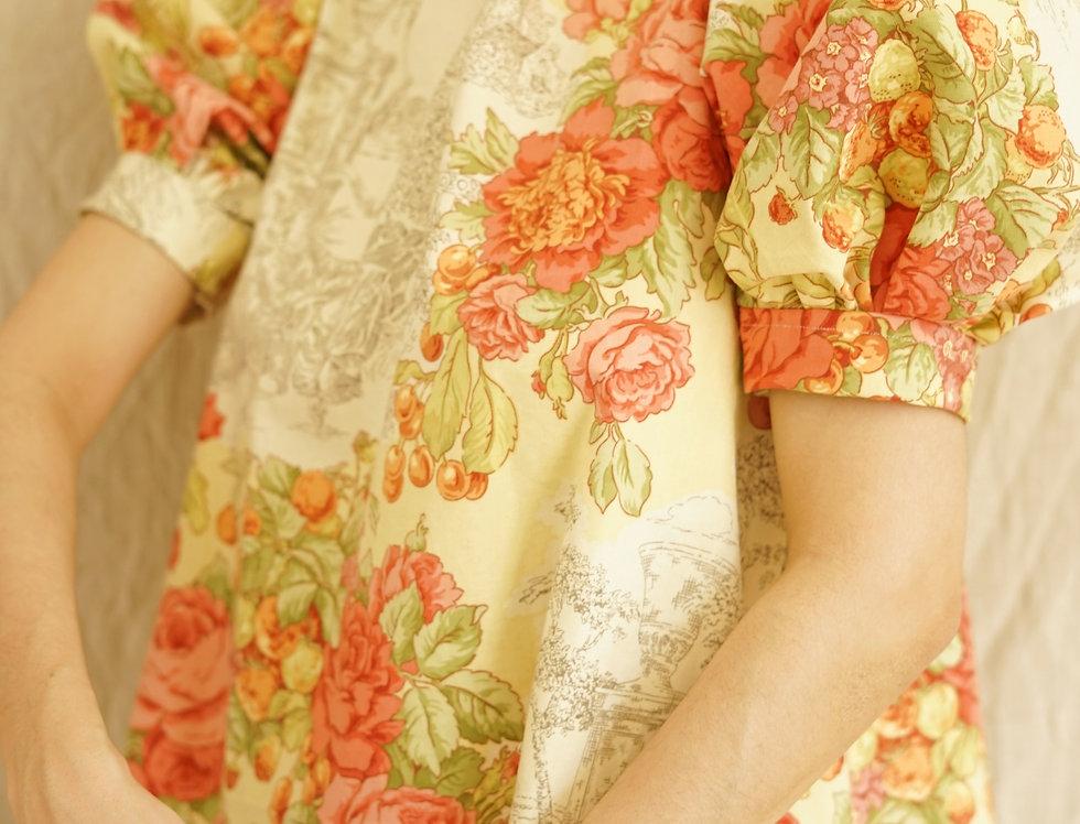 Floral toile mini dress