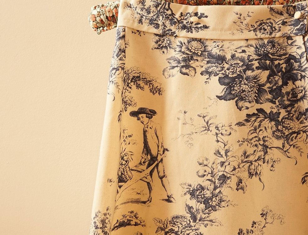 Garden party high waisted skirt
