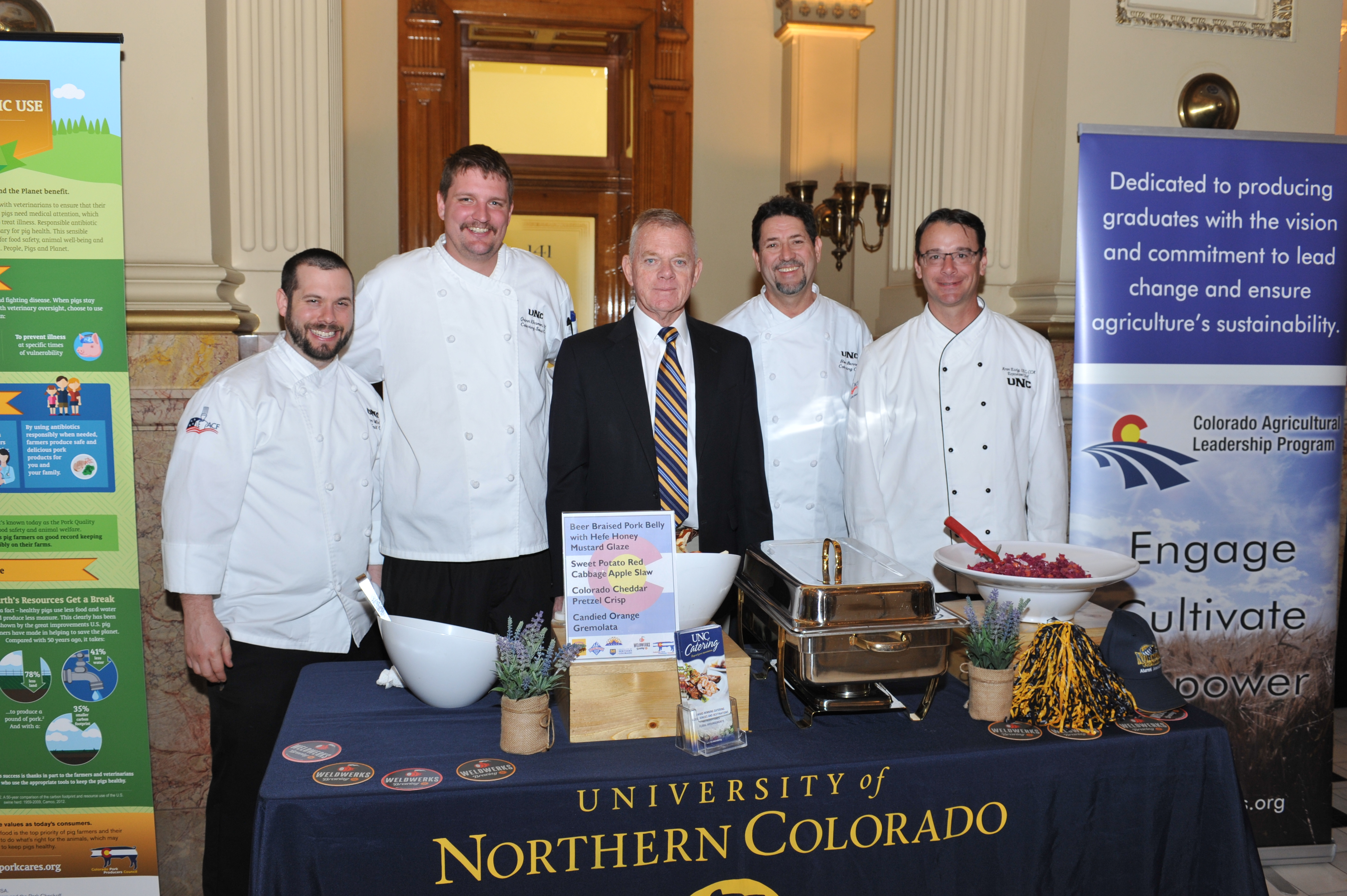 Bill Hammerich and the UNC Chef Team
