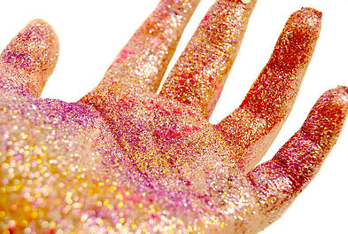 Farben, Glitzer, Glamour, Visagistin