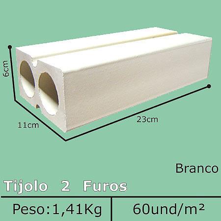 Tijolo Branco 2 Furos