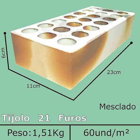 Tijolo Mesclado 21 Furos