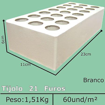 Tijolo Branco 21 Furos